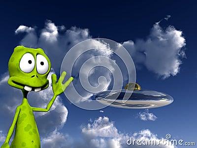 Alien With UFO 4