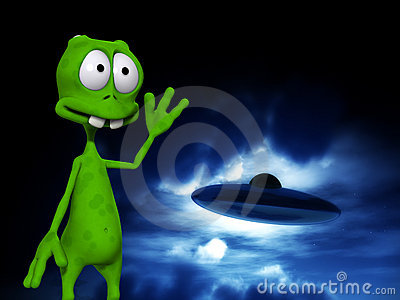 Alien With UFO 6