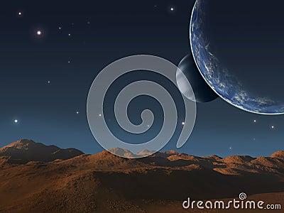 Alien world.
