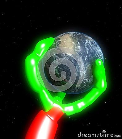 Free Alien World Grab 4 Royalty Free Stock Image - 5469996