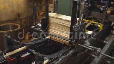 Alimentação automática de painéis de madeira vídeos de arquivo