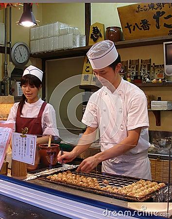Alimento asiático de la calle del estilo Imagen de archivo editorial