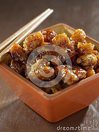 Alimento chinês - galinha do tso geral