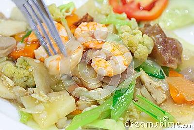 Alimento chinês nomeado tampão-cay