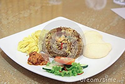 Alimento dell asiatico del riso fritto