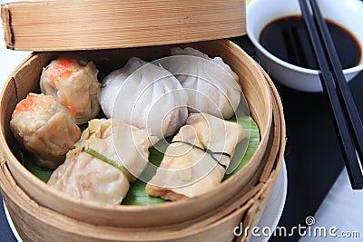 Alimento do chinês de Dimsum