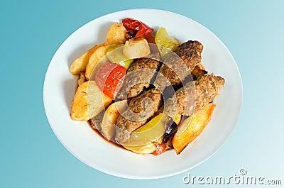 Alimento turco - Meatballs de Izmir