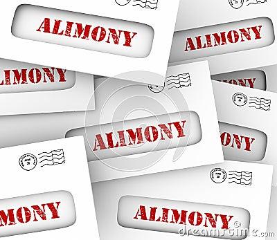 Alimony Envelopes Payments Spousal Support Legal Obligation
