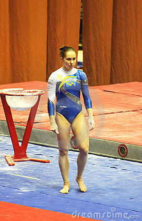 Free Alina Fomenko (Ukraine) Prepares To Do Exercises Stock Photography - 24227952