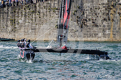 Alinghi compete in the Extreme Editorial Photography
