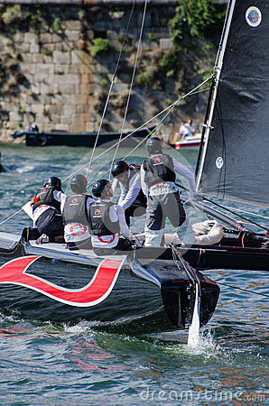 Alinghi compete in the Extreme Editorial Stock Photo