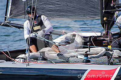 Alinghi compete in the Extreme Editorial Stock Image