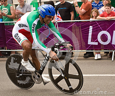 Alireza Haghi  in the Olympic Time Trial Editorial Photo
