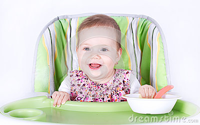 Aliste para el bebé de la cena