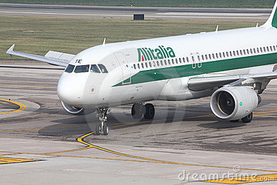Alitalia - Airbus A320 Editorial Photography