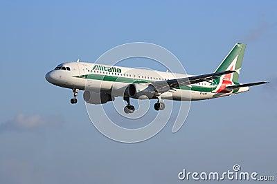 Alitalia Airbus A320 Editorial Stock Image