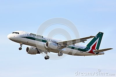 Alitalia Airbus A320 Editorial Photo