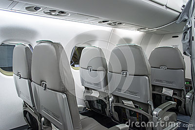 Alitalia Airplane Back Seat View Editorial Image