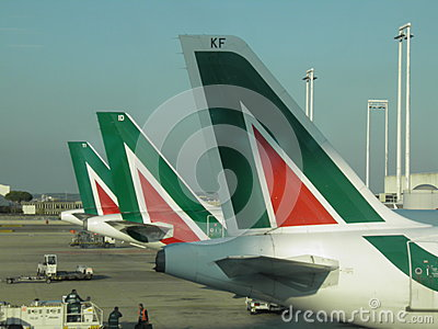 Alitalia airplanes Editorial Photography