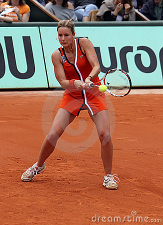 Alize Cornet (FRA) at Roland Garros 2009 Editorial Photo