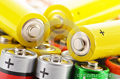 Alkaline batteries. Chemical waste