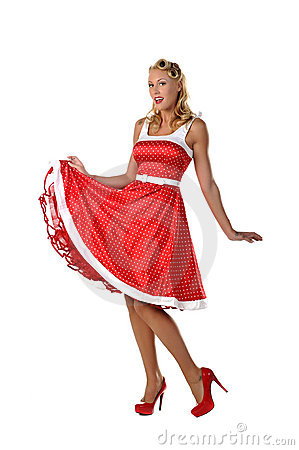 Free All American Pinup Girl Royalty Free Stock Photography - 21753067