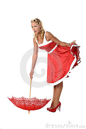 Free All American Pinup Girl Royalty Free Stock Photography - 21753187