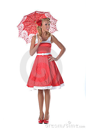 Free All American Pinup Girl Royalty Free Stock Photos - 21753208