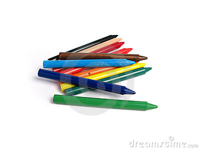 All colors crayons