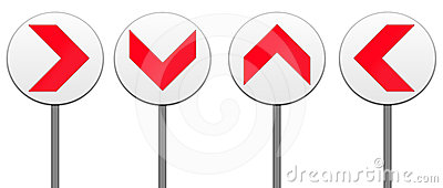 All direction arrows road sign isolated