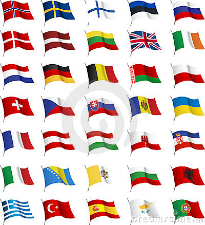 Royalty Free Stock Images: All European flags.
