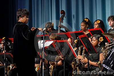 All girls jazz band Editorial Stock Photo