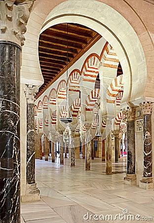 All interno di Mezquita di Cordova, la Spagna