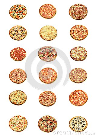All kind of pizza