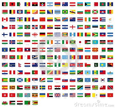 Free All National Flags Of The World With Names - High Quality Vector Flag Isolated On White Background Stock Photo - 109417420