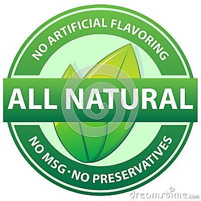 Free All Natural Food Seal Royalty Free Stock Photos - 17899768