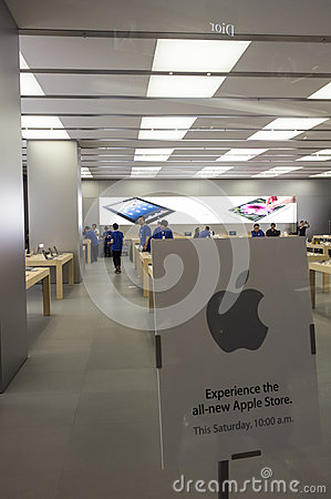 All-new Apple Store of Hong Kong Editorial Photo