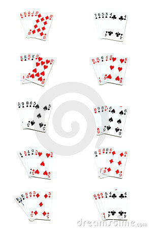 Free All Poker Hands Stock Photography - 2130732