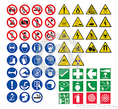 Free All Safety Signs Stock Images - 42421254
