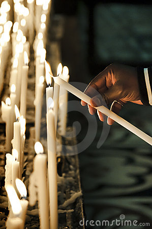 Free All Saint S Candles Royalty Free Stock Images - 16786149