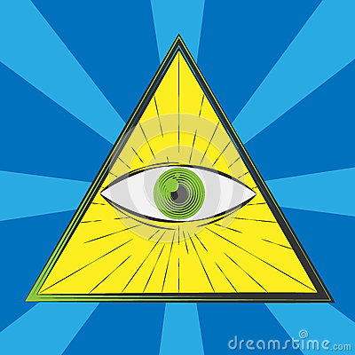 Free All Seeing Eye Stock Photography - 51068702
