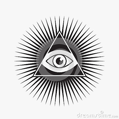 Free All Seeing Eye Symbol Royalty Free Stock Images - 56267709