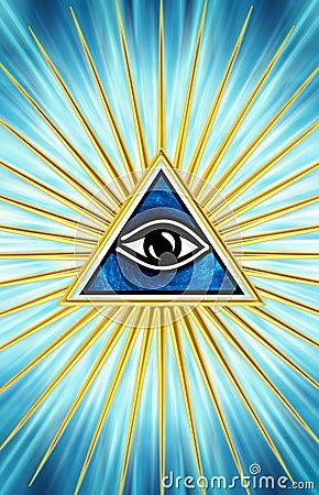 All Seeing Eye Eye Of Providence Royalty Free Stock