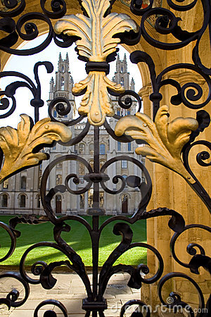 Free All Souls College And Gate, Oxford Royalty Free Stock Image - 12903106