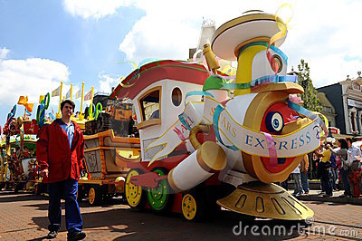All star express at Disneyland Editorial Stock Image