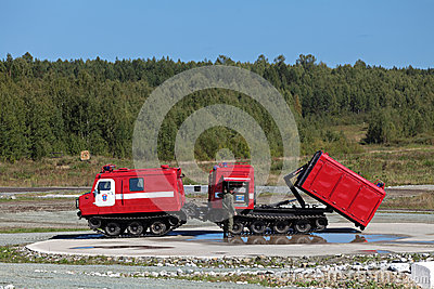 All-terrain fire vehicle Editorial Photo