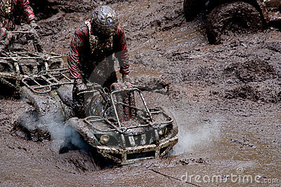 All-terrain vehicles in mud