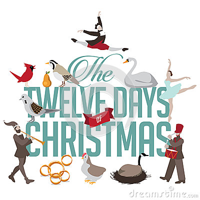 Free All Twelve Days Of Christmas Royalty Free Stock Images - 62097049