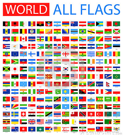 Free All World Vector Flags. 210 Items. Stock Photo - 63995430
