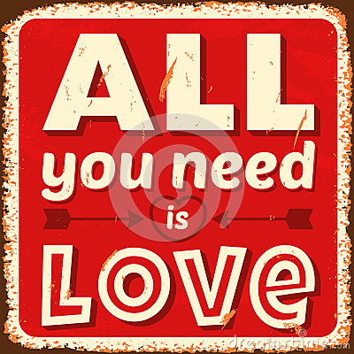 Free All You Need Is Love Royalty Free Stock Photos - 33320228